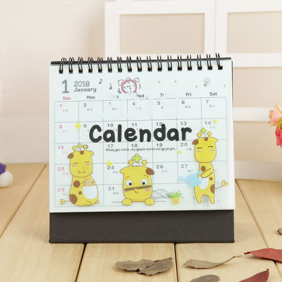 New Style Custom Wire-O Desk Hardcover Calendar Printing Service