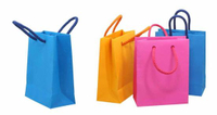 Colorful Paper Shopping Gift Bag, Package Hand Bag