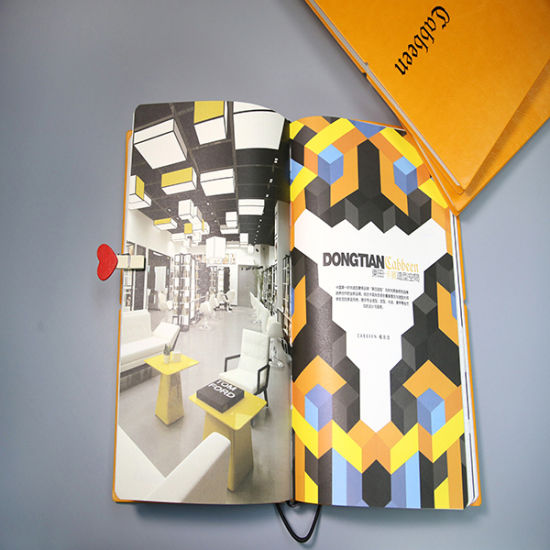 Simple Style Colorful Introduction Notebook/Brochure with Rubber Band