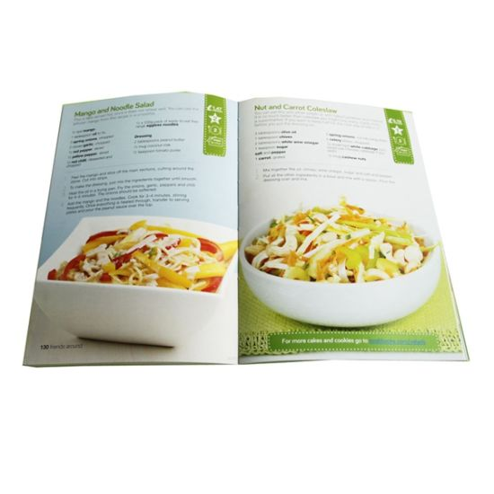 Great Quality Art Paper, Softcover, Colorful Cook Guiding Book Printing