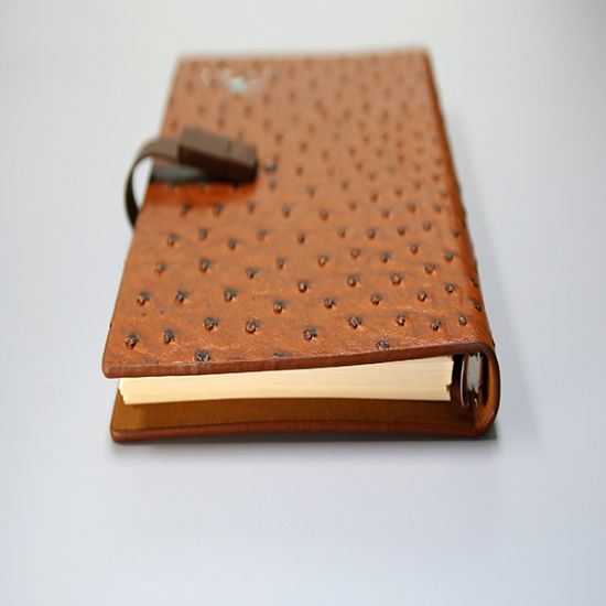 Leather Cover Notebook Printing with Button