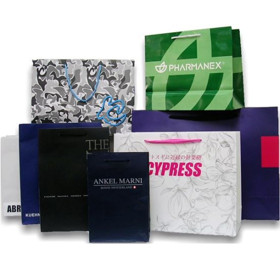 Fashional Shopping Paper Bags Full Colour Printingservice