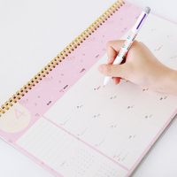New Year Custom Desk Wire-O Calendar Printing with Notepad