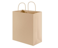 Custom Design Printed Shopping Brown Kraft Paper Bag